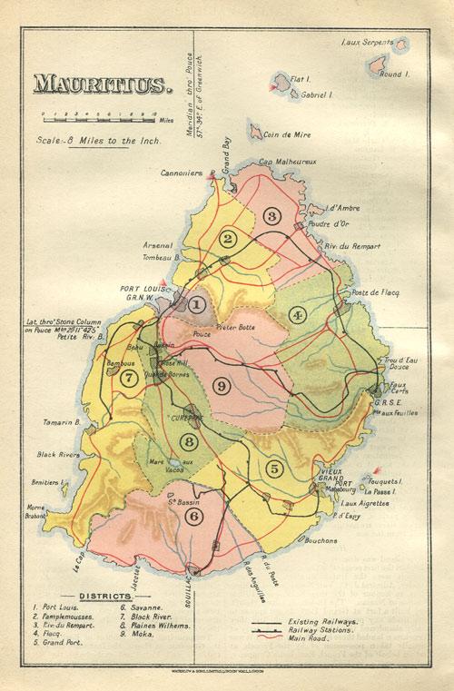 Maps Part - Mauritius maps